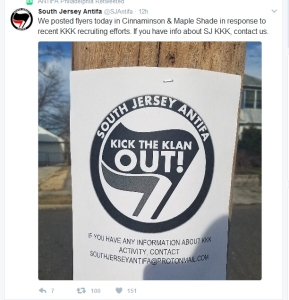 Antifa violating NJ statutes