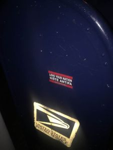 First class anti-antifa.net stickering